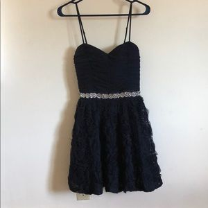 Navy blue fancy dress